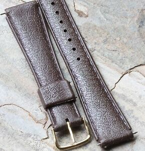 LAST-3-Brown-18mm-rubber-Tropic-band-type-vintage-divers-watch-1960s-70s-8-sold