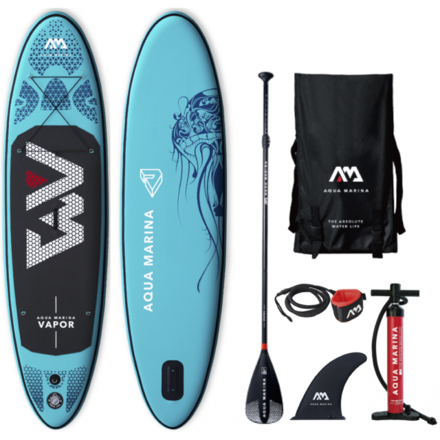 Brand NEW Aqua Marina SUP Vapor 300cm (BT-19VAP) (Pump, Paddle, Fin, Backpack)