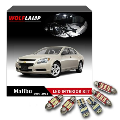 9Pcs Canbus LED Interior Kit Car Light For 2008-2012 Chevrolet Malibu White Lamp