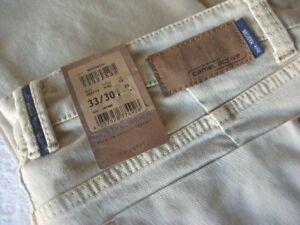 Details about Camel Active Madison 33 waist x 30 leg men's measured beige jeans NEW €99.95 tag