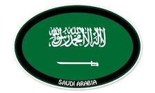 "Saudi Arabia Flag Oval car window bumper sticker decal 5"" x 3"""
