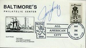 Jim Langer Signed Jsa Cert Sticker Fdc Authentic Autograph