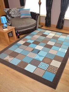 Teal Blue Pattern Small Extra Large Floor Carpets Rugs Mats Long Runners Cheap Ebay