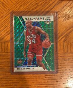 Charles-Barkley-2019-20-Mosaic-Hall-Of-Fame-GREEN-Prizm-SP-76ers