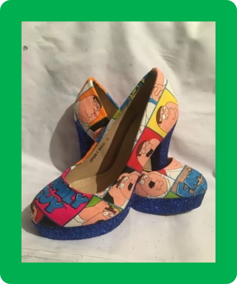 * * * Family Guy Chaussures/talons * * UK Tailles 2.5 - 8 *