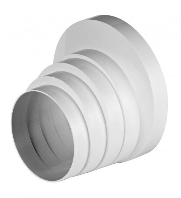 Bogen//Winkel 90/° f/ür Abluftrohr Rundrohr L/üftungsrohr /Ø 125 mm aus PVCCAP