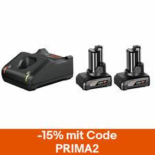 Bosch 12V Ersatzakku + Ladegerät Akku Starter-Set: 2x Akku GBA 6.0Ah & GAL12V-40