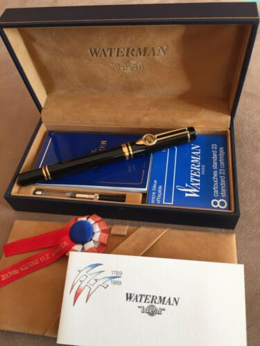 Waterman  Le Man 100 French Revolution Bicentennial Fountain Pen New In Wood Box