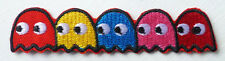 Embroidered Pacman Ghost Badge Iron On Fancy Dress Patch New PAC MAN emblem
