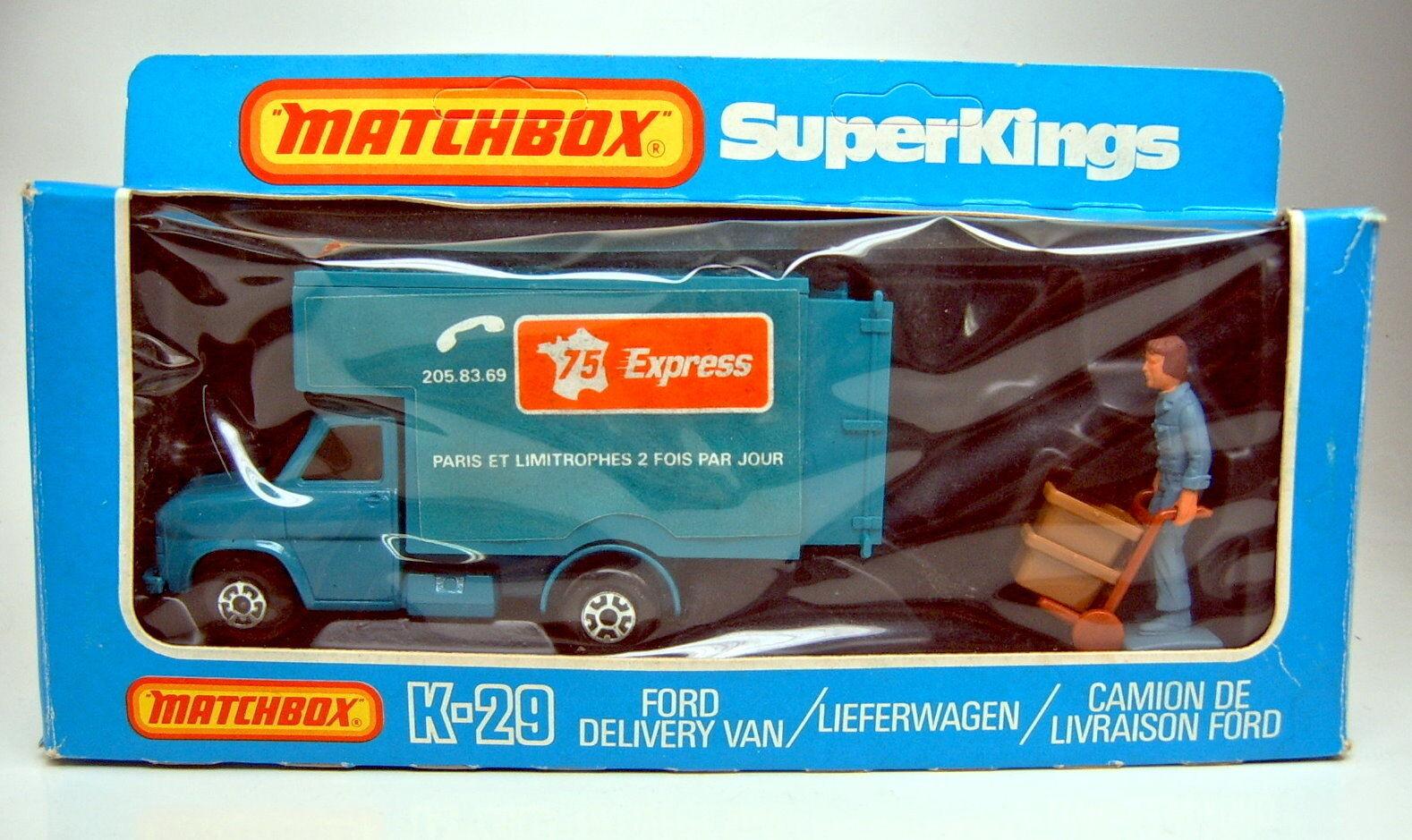 Matchbox Superking K-29B Ford Delivery Van    75 Express  Werbemodell mit Box  | Verrückter Preis  7722a3