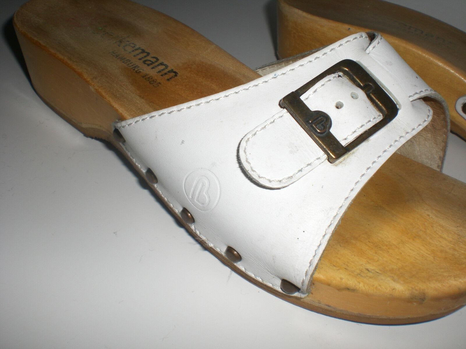 Berkemann Vintage HolzSandalen,Holzclogs Holzklepper Klapperlatscen Gr.6 Gr.6 Klapperlatscen 4f11ce