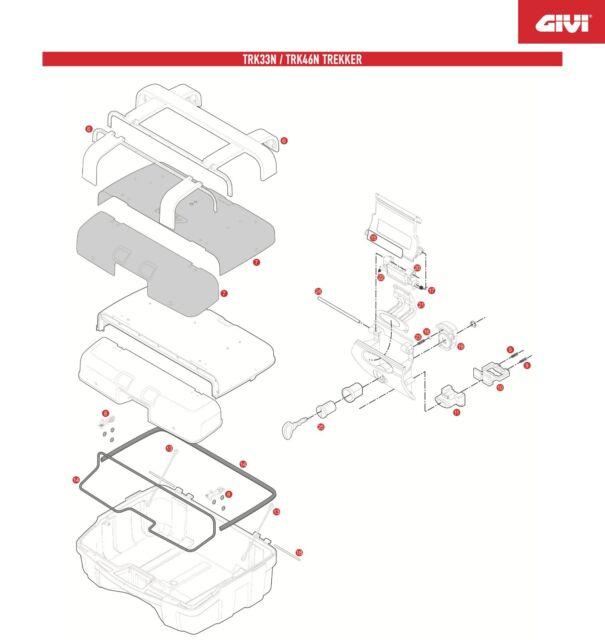 Z647R REPLACEMENT disc spring TORSION for GIVI TRK46N TRK33N TREKKER