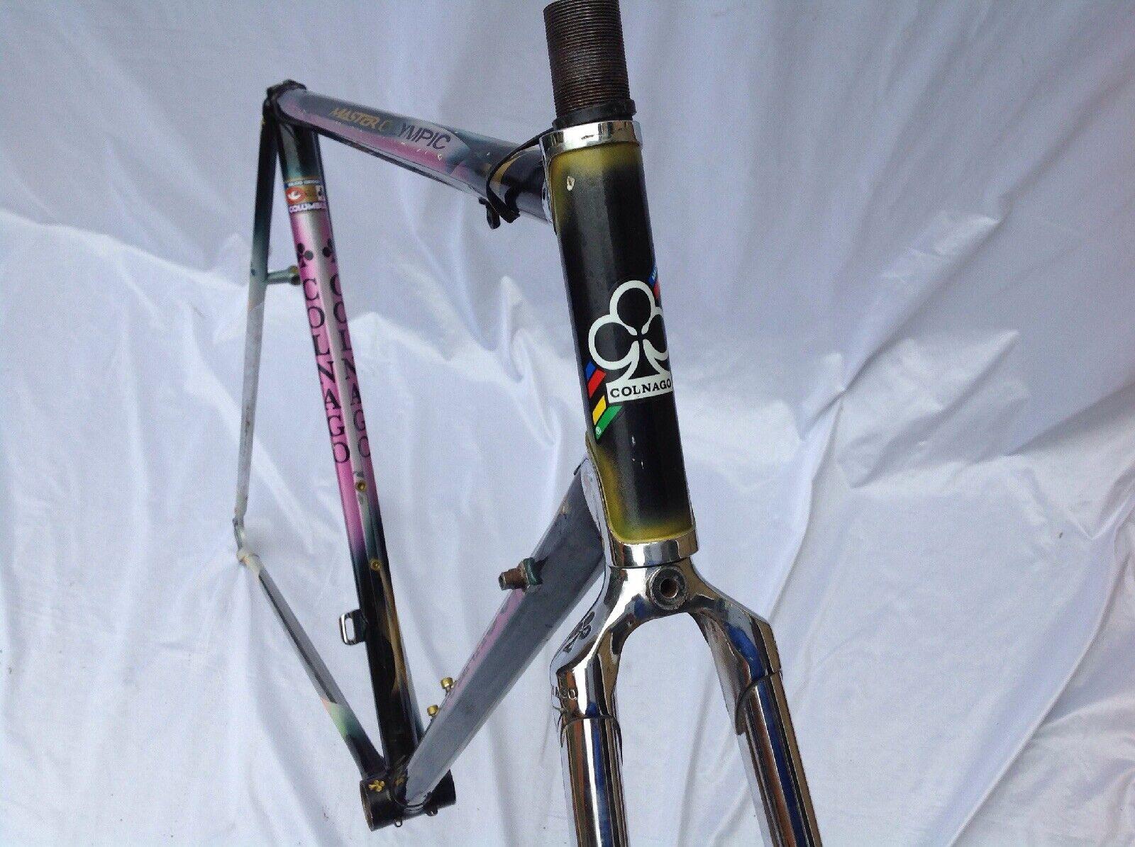 COLNAGO MASTER OLYMPIC ART DECO VINTAGE FRAME & FORK 1990 55CM C-T-C CAMPAGNOLO