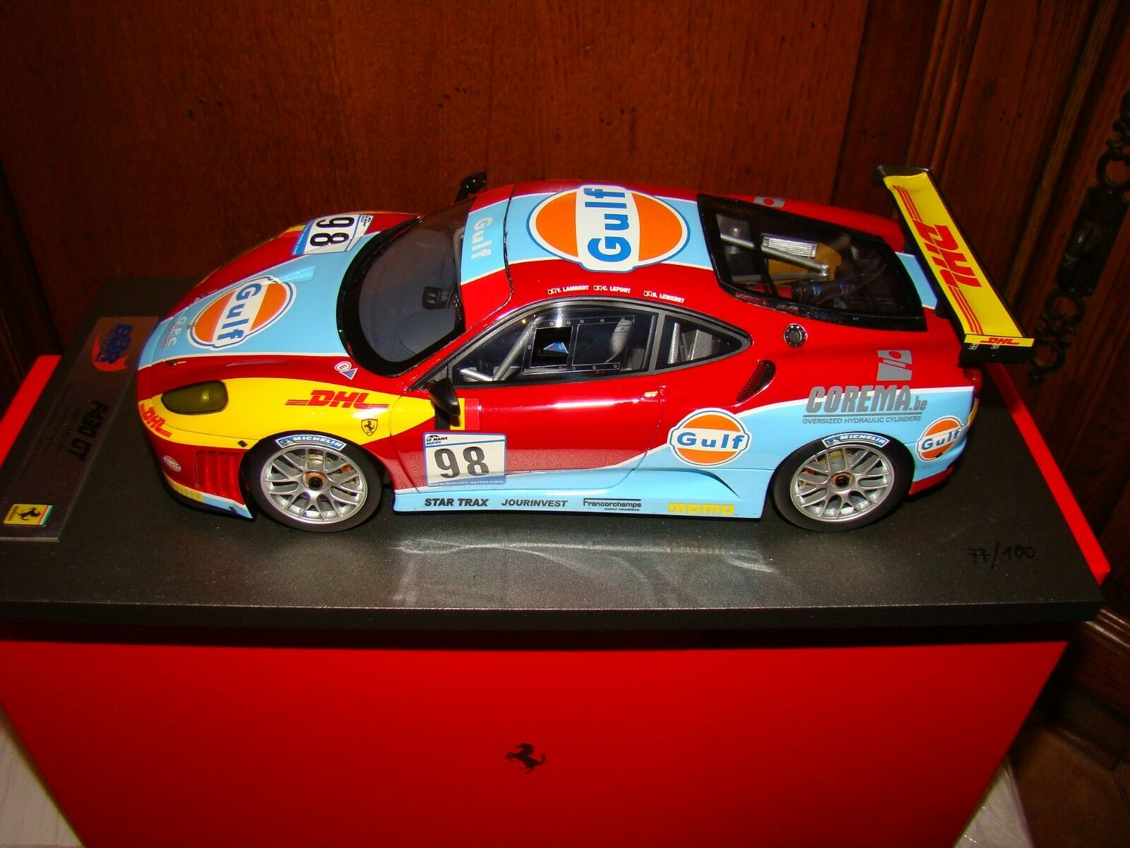 FERRARI F430GT 1000 KM OF SPA 2007  BBR 1 18 EME  LIMITED EDITION 077  100 PCS