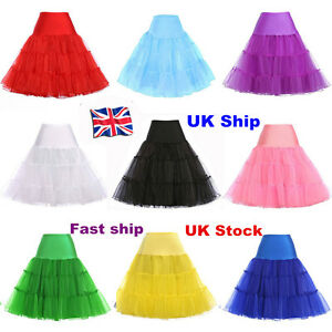 """26"""" Retro Underskirt 50s Swing wedding Petticoat Rockabilly Tutu Fancy Net Skirt"""