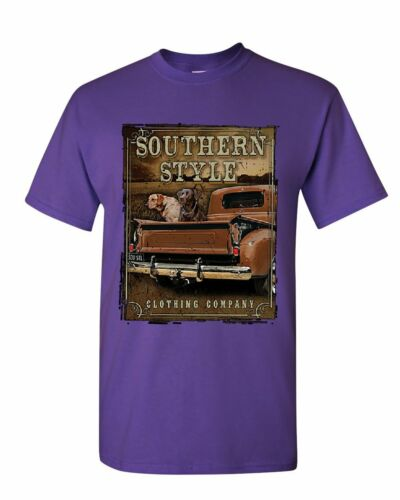 Southern Style T-shirt camion Country Farm Labrador Retriever Homme Tee Shirt