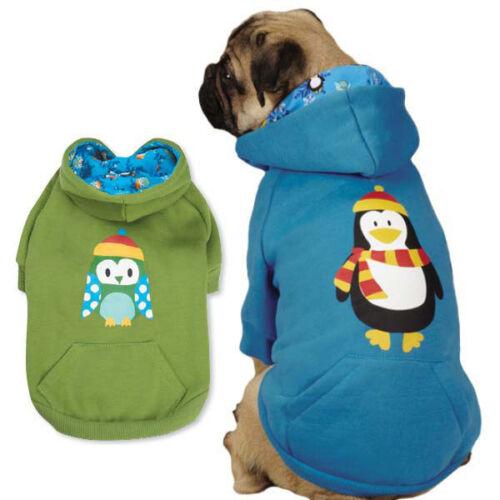 Casual Canine North Pole Pals Hoodies Dog Hoodie Pet Penguin Owl Sweatshirt