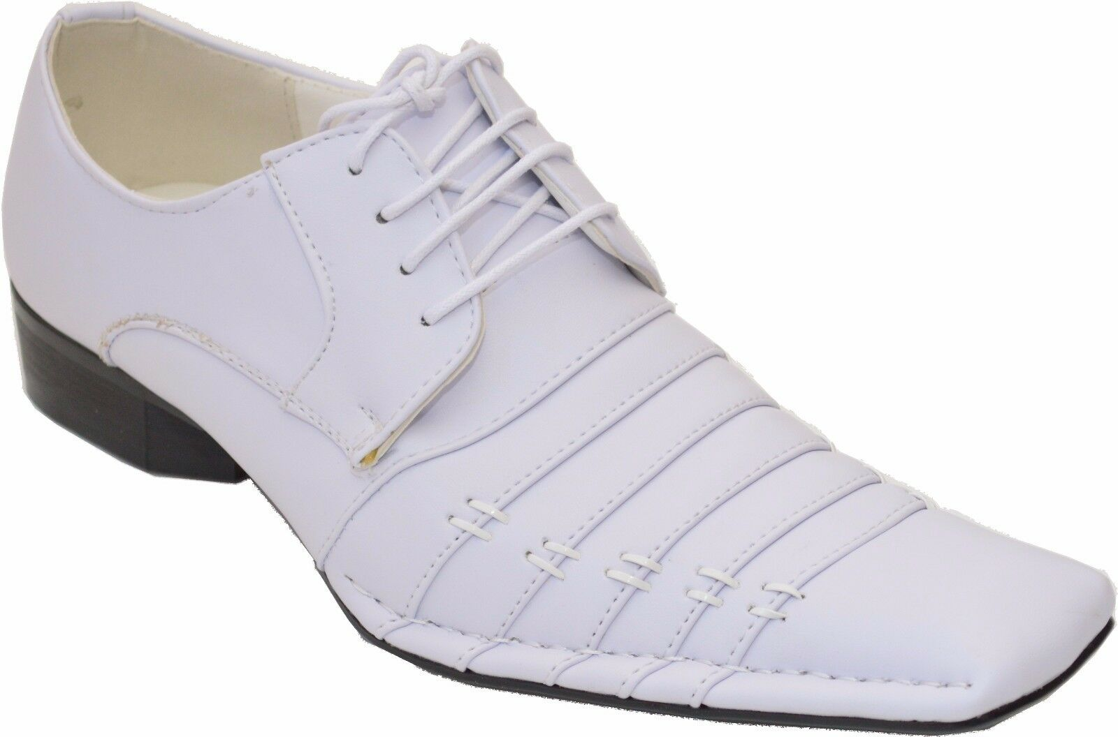 New Men's Lace-Up Oxfords Wedding Formal Church Party Dress shoes White -Harlem
