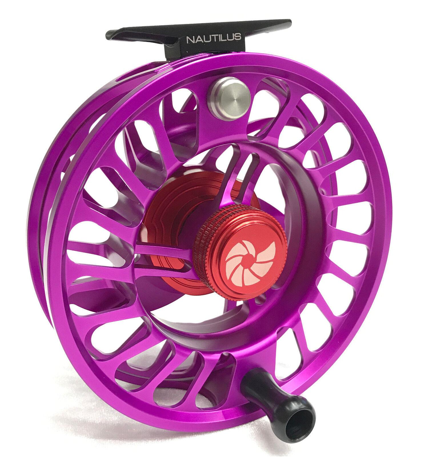Nautilus plata King CCF-X2 Cocherete De Pesca Con Mosca-púrpuraa Personalizado-Nuevo en Caja Envío Gratis en EE. UU.