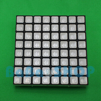 RGB 8x8 60x60mm Colorful Full Color LED Dot Matrix Display Square Common Anode H