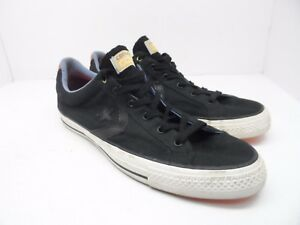 7b24ee840508 Converse Mens Star Player OX Low Top Casual Shoe Black White Size ...