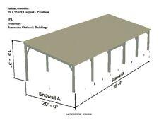 Galvanized Steel Carport Or Pavillion 20 X 55 X 9 Metal Building Kit Delivered