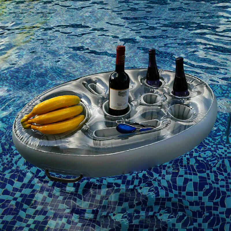 Inflatable Floating Hot Tub Tray Cup Holder For Summer Pool Drink&Snacks SPA Bar