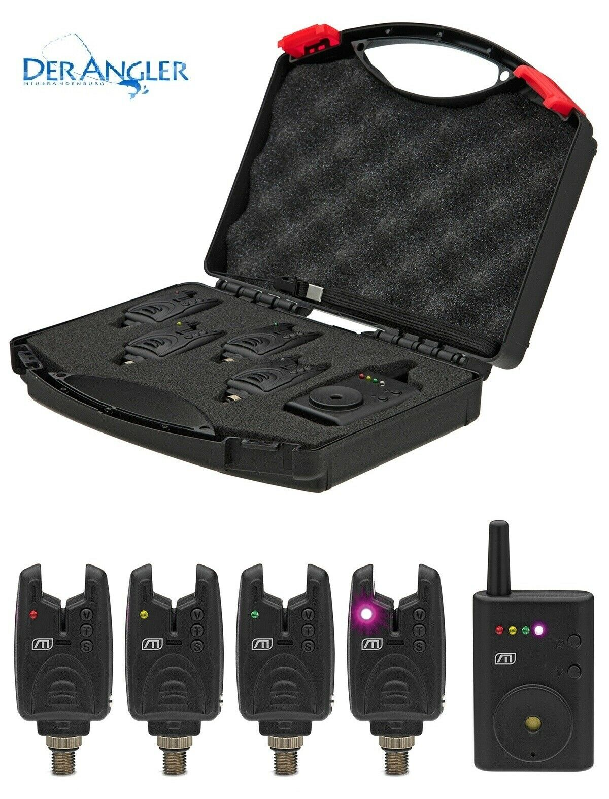 Dam Mad Nano  Wireless Bite Alarm set 4  1 funkset Radio Indicatore di morso VALIGIA