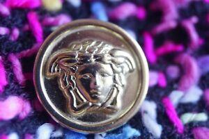 VERSACE-button-1-pieces-brooch-MEDUSA-HEAD-Gold-Tone-metal-size-16-mm