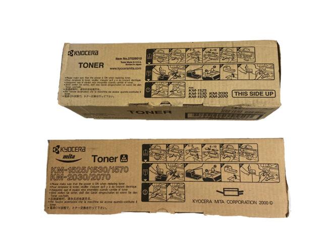 Kyocera Toner KM-1525/1530/1570/2030/2070 Item Number 37028010 X TWO