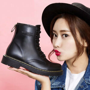 Women-039-s-Martin-Ankle-Boots-Leather-Short-Boot-Velvet-High-Top-Shoes-Anti-Skid