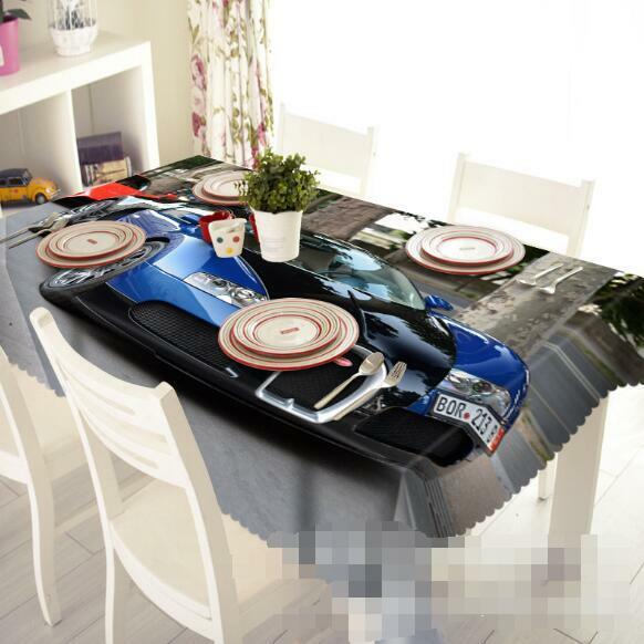 3D bleu Car 42 Tablecloth Table Cover Cloth Birthday Party Event AJ WALLPAPER AU