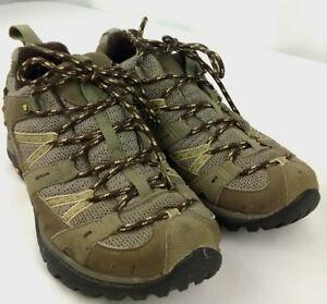 Ladies Merrell Continuum Brown Ortholite Hiking Sneakers Size 8