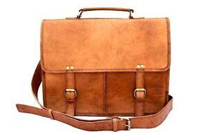 Hot-Leather-Messenger-Bag-Shoulder-Business-Briefcase-Laptop-Bags-Handmade