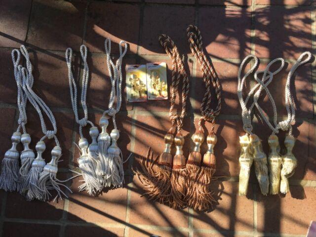 Bedroom Nylon Weaving Knot Decor Window Drapery Tieback Rope Curtain Tassel Pair