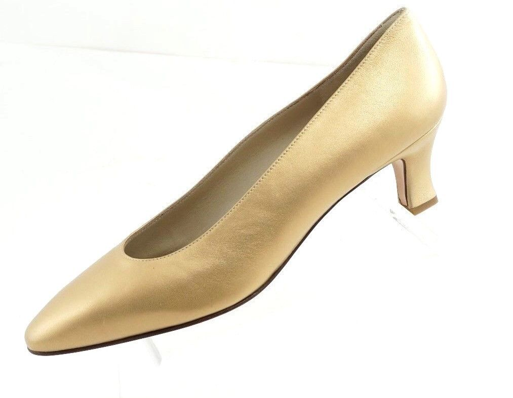 Bruno Magli Gold Classic Pumps Heels  Größe 7.5 7.5 7.5 AA 8c3538