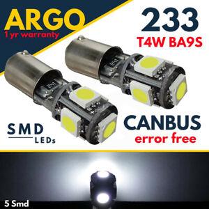 Ba9s-T4w-Luz-Lateral-233-LED-Blanco-Interior-CANBUS-Libre-De-Errores-Bombillas-De-Luz-Lateral-12v