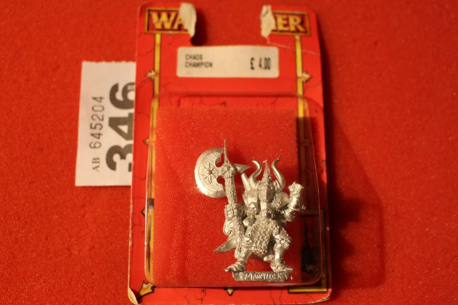 Games Workshop Warhammer Quest Chaos Champion New Metal Figure Warhammer OOP