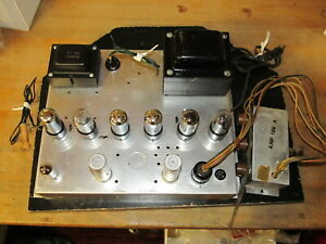 Vintage-Magnavox-128-C-6V6-Tube-Amplifier-Preamp-Controls-VERY-NICE-amp-CLEAN