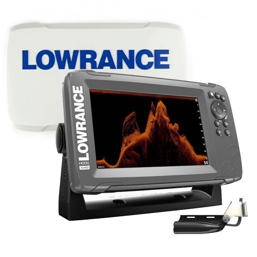 Lowrance HOOK2-7x con trasduttore SplitShot ecoscandaglio GPS + COVER projoettiva