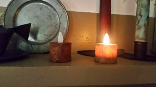 TWO BLACKENED Tealights Judy Condon !! Remote! Hand Poured//Timer