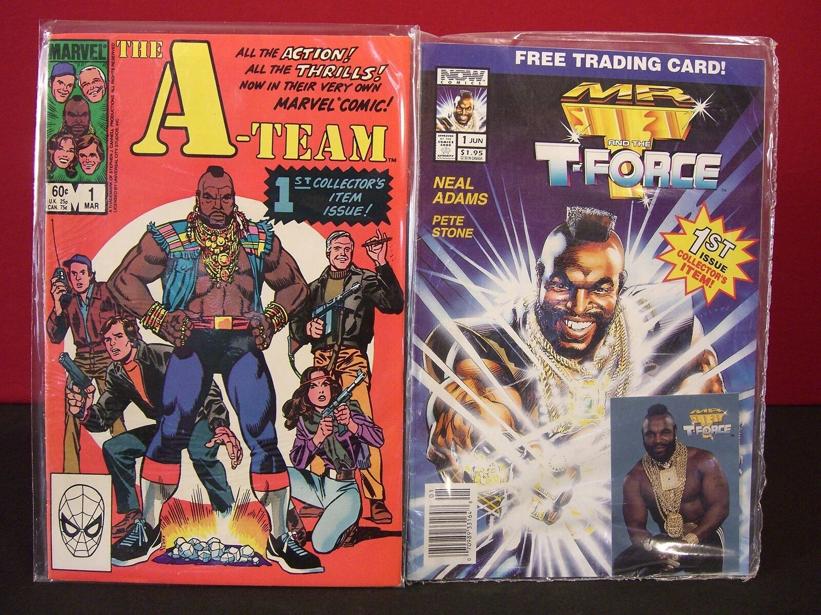 A Team 1984 Marvel and 1993 Mr. T and the T-Force Comic Collector Combo