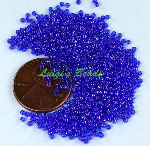 15//0 Round TOHO Japanese Glass Seed Beads #87-Trans-Rainbow Cobalt 10g