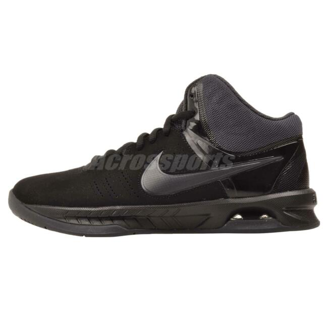 0afbaece02c8 Nike Men s Size 10.5 Air Visi Pro VI Nubuck Basketball Shoes Black ...