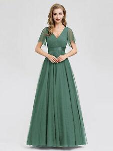 Ever-Pretty US Women V-neck A-line Prom Gowns Formal Celebrity Evening Dresses