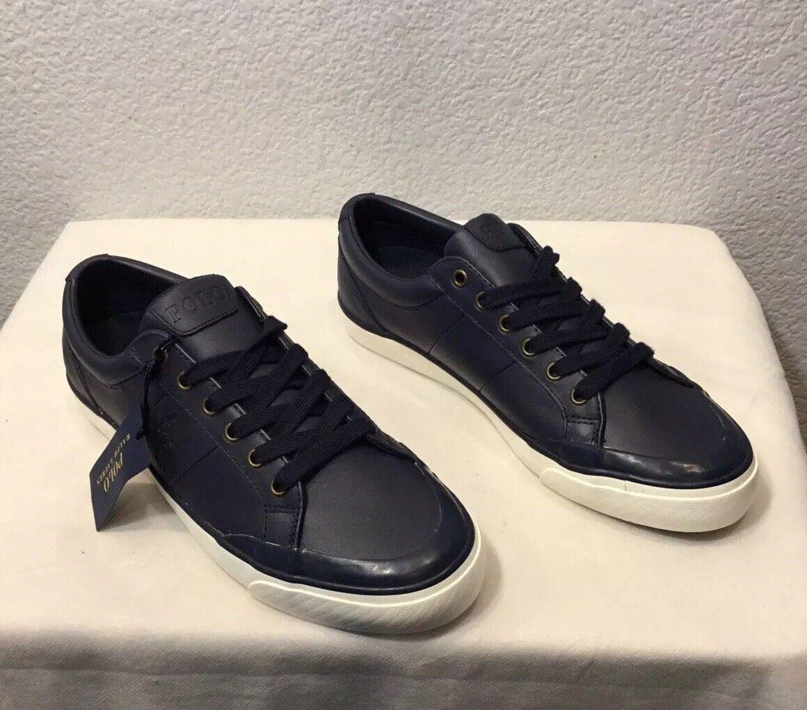 Nuevo Polo Ralph Lauren IAN Deporte Cuero Casuales Zapatos  Azul  para hombres