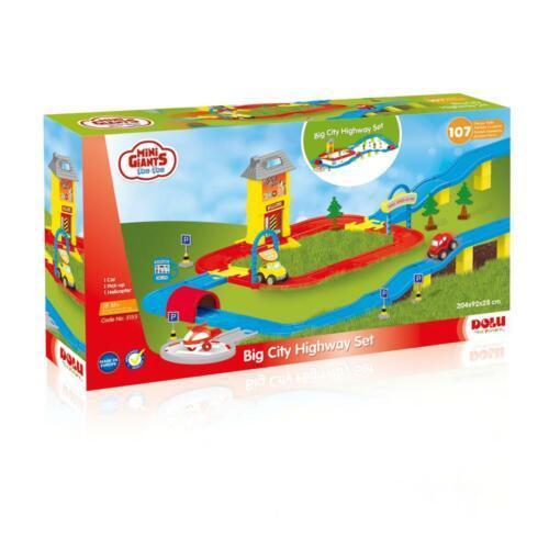 Dolu BIG City Highway Kids Auto pista PLAY SET GIOCO Ragazzi Bambino Giochi di simulazione prescuola