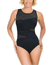 NWT Black Miraclesuit by Kirkland 1 piece Swimsuit Bathing Suit Size 14 FreeShip