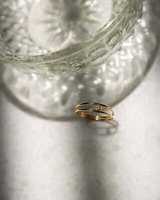 Gold Plating Diamond Ring Jewelry Best Friend Gift Emerald Ring Natural Diamond Ring Gift for her 925 Sterling Silver Ring Jewelry Gift
