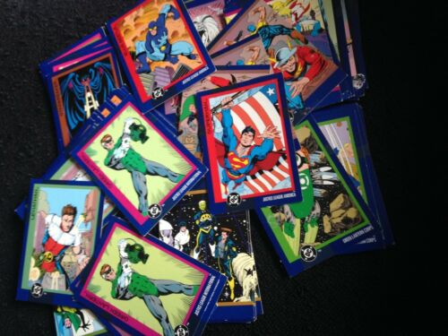 DC Skybox Cards 1993 Lot of 96 Justice League Superman Green Lantern